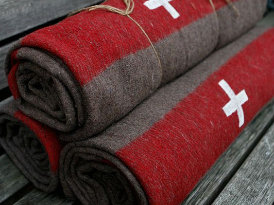 swiss army blanket for the boy