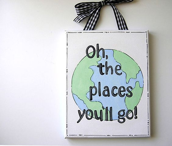 Oh the places you'll go .. 8x10 .. Nursery Wall by iwantedtowonder