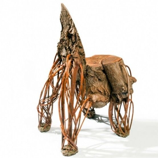 Outstanding Unique Willow Wood Weird Chair, Close To Nature Furniture Ideas  http//