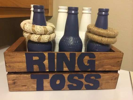 Rustic Vintage Nautical Theme Wedding Ring Toss by MostlyCraft