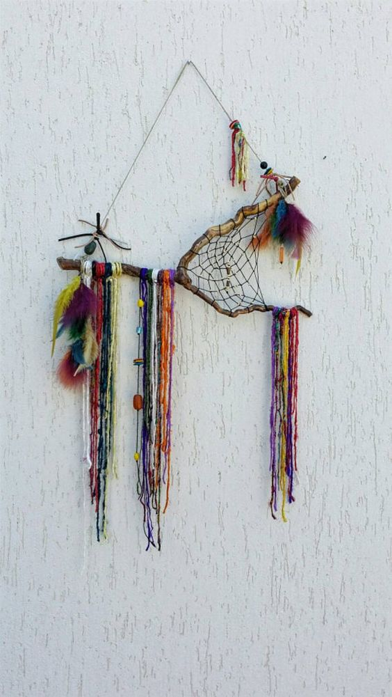 Boho Rustic gypsy décor, Gypsy wall art, bohemian décor, rustic dream catcher…: