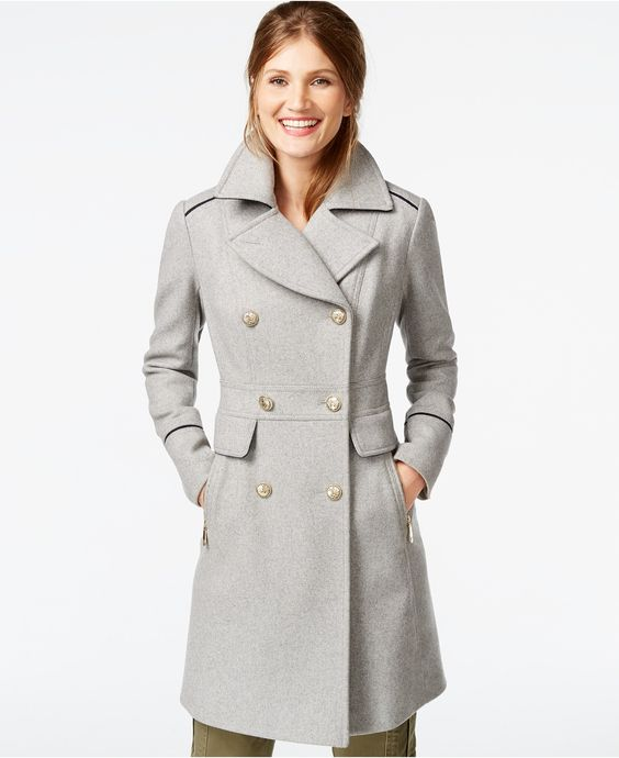 Vince Camuto A-Line Military Walker Coat - Coats - Women - Macy&39s
