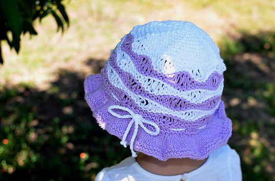 Purple Wave Cotton Sun Hat pattern by Christy Hills ...