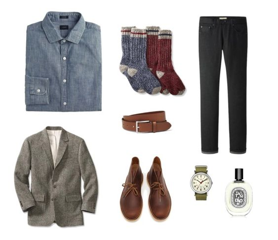 3 ways to wear a chambray dress shirt, from Megan Collins of men's style site Style Girlfriend - Date Night
