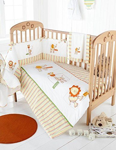 Little Zoo Quality Cot Bumper & Cot Quilt Set Great Value…