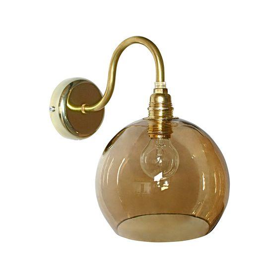 Discover+the+Ebb+&+Flow+Rowan+Wall+Lamp+-+15cm+-+Chestnut+Brown+at+Amara