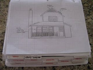 Home building project binder