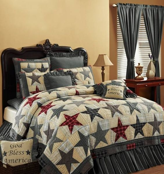 Country and Primitive Bedding Quilts America Bedding by