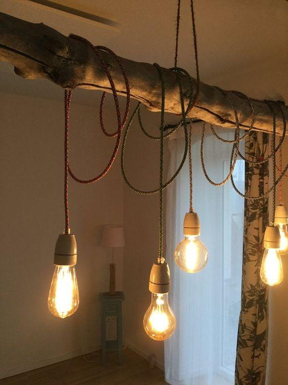 Drift wood Hängelampe hanging lamp driftwood | Hängelampe