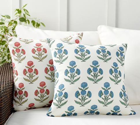 Belinda Floral Printed Indoor Outdoor Pillow Outdoor Pillows Indoor Outdoor Pillows Floral Prints