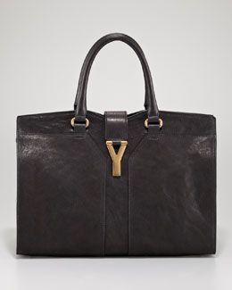 This should be my first black bag.   Yves Saint Laurent Cabas ChYc Tote, Medium