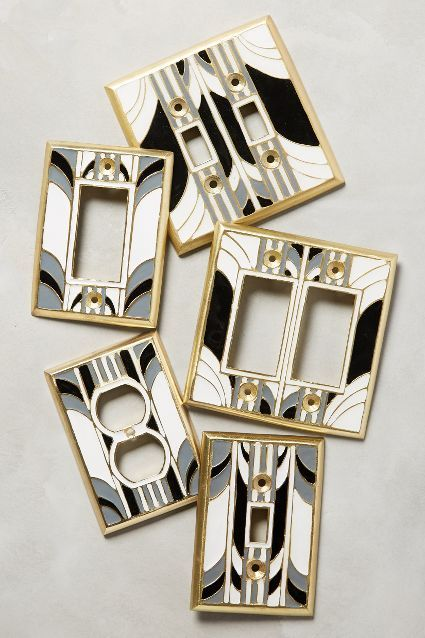 Switch plates swirls and plates on pinterest - Art deco switch plate covers ...