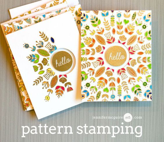 Pattern Stamping with Video by Jennifer McGuire