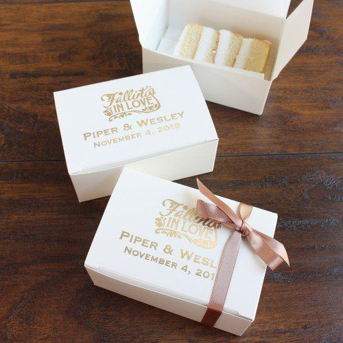 Wedding Cake Slice Boxes For Guests Uk