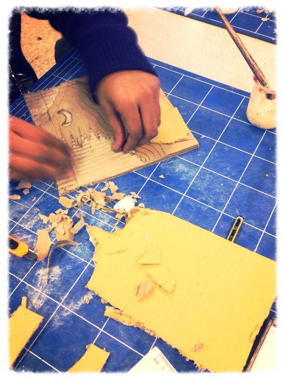 Olivia Sinthathurai making her tile