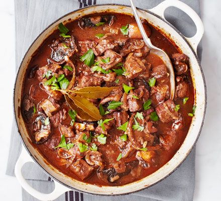 Beef skirt and shin are great value cuts, and become particularly delicious when slow-cooked in this one-pot dish - ideal for no-fuss family dinners