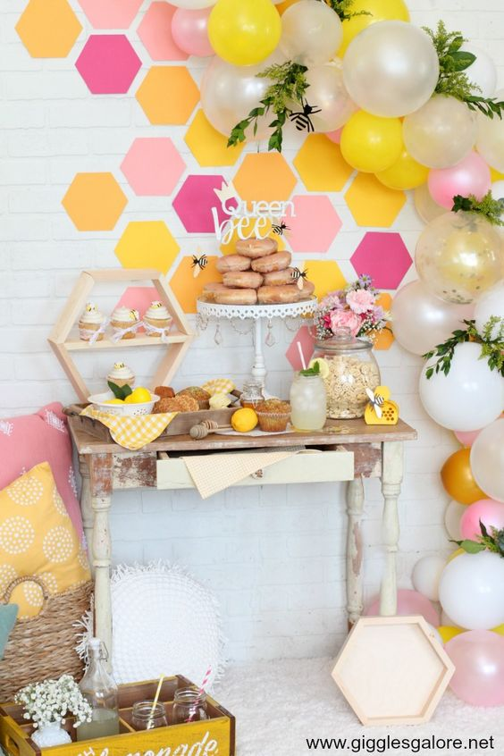 """Here's the buzz! Whether you are planning a bee themed first birthday party, a baby shower for the """"mom-to-bee"""" or ajust BEE-cause tea party, this DIY bee themed party is full of creative ideas everyone will love. #cricut #cricutmade #partyideas #babyshower #parties"""