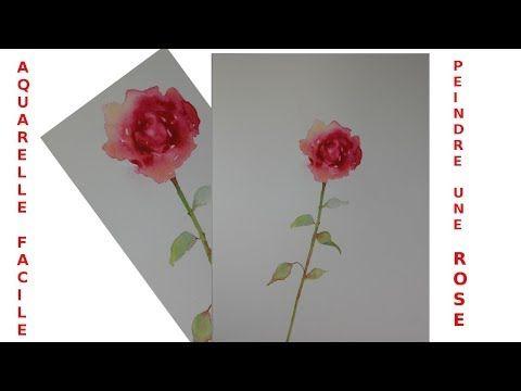 Peindre Une Rose Facilement A L Aquarelle Youtube Aquarelle