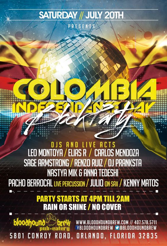 July  Colombia Independence Day Block Party  Bloodhound
