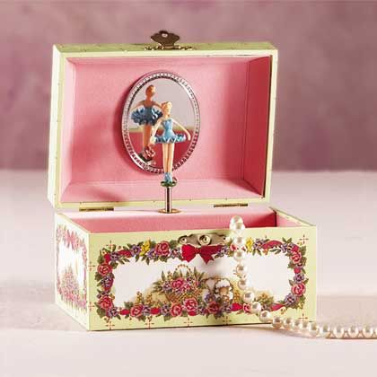 jewelry boxes with ballerinas  !!! so had one of these!!  and of course got one for my daughter!
