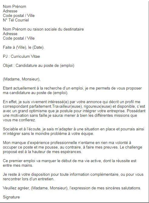Quatre Lettres De Motivation Qui Te Demarqueront Des Autres Candidats Motivation Letter For Job Job Search Word Doc