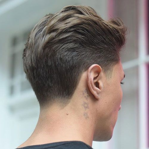 Haircuts For Men with Thick Hair - Brush Back with Taper ...