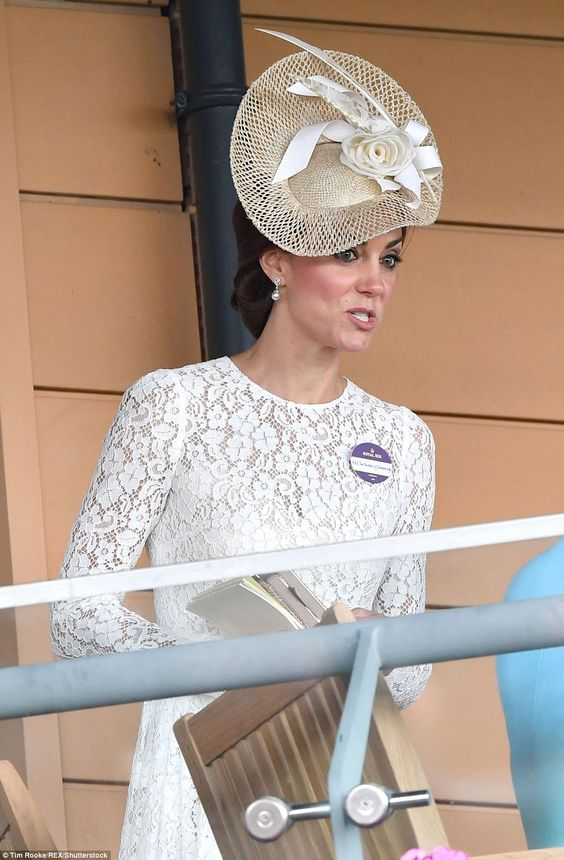 The Duchess looked somewhat surprised during a conversation with the Countess of Wessex: