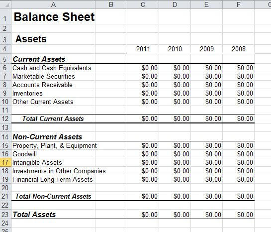 Pin By Magcicle On Income    Balance Sheet Template