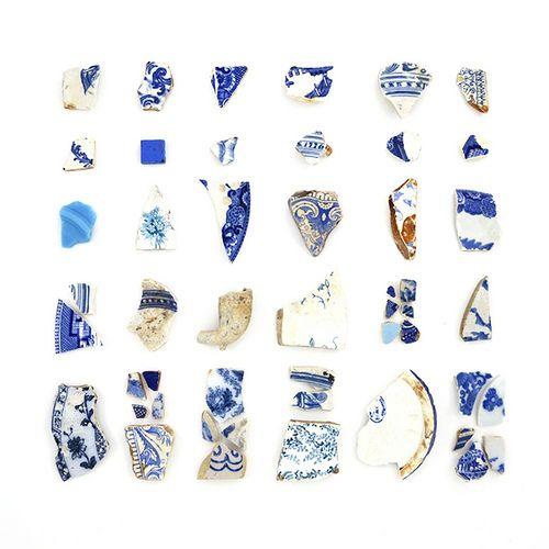 Blue + White Fragments
