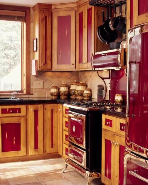 Vintage Knotty Pine Kitchen Cabinets
