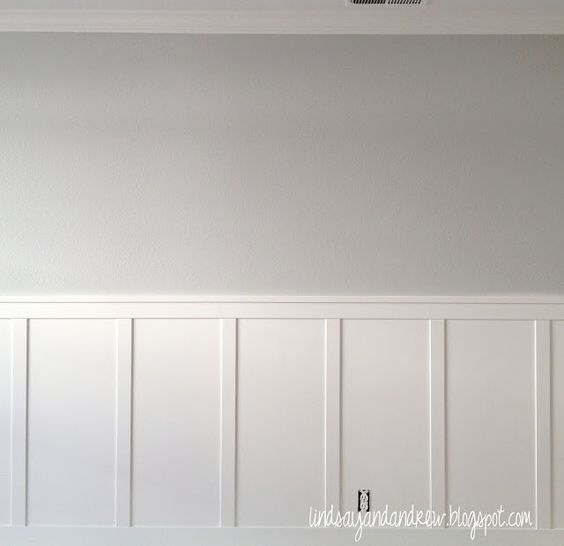 """Benjamin Moore """"Moonshine"""" ~ Body Color, Above chair rail in Playroom"""