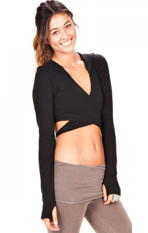 Omgirl Wrap Workout Pullover made from Organic Cotton