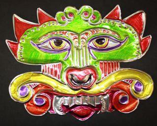 metal tooling dragon (5th grade China project?: Dragon Mask, Art Class, Masks Art, Art Projects