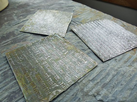 Art Jewelry Elements: Making Your Own Texture Plates for Metal Embossing