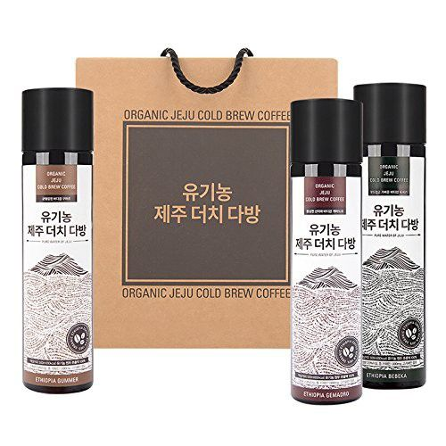 WithO Organic Jeju Cold Brew Coffee Concentrate 16.9 oz Ethiopia Bebeka/Gummer/Gemadro 3 bottles