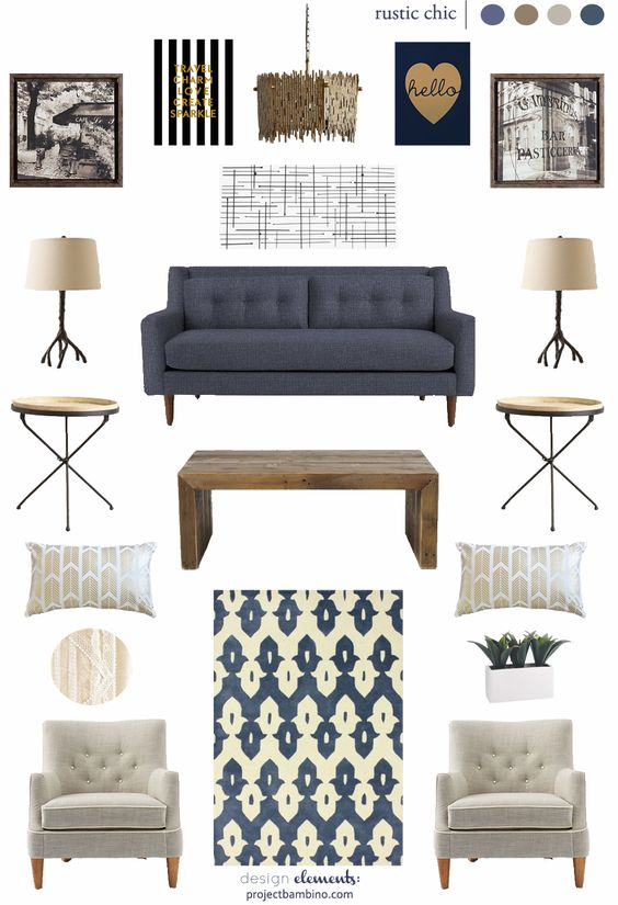 Chic living room rustic chic and living room designs on for Rustic chic living room ideas