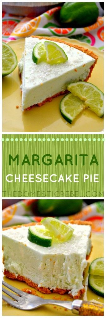 No-Bake Margarita Cheesecake Pie | Recipe | Frozen, De ...