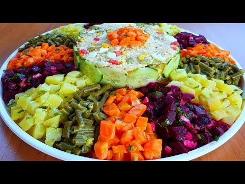 Salade Marocaine سلطة مغربية راقية للضيوف ديال لعراضة مقبلات شلادة الجردة المغربية للمناسبات سلطات Youtube Recipes Cobb Salad Salad