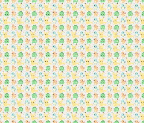 Starting Pokemon fabric by _craftfox_ on Spoonflower - custom fabric