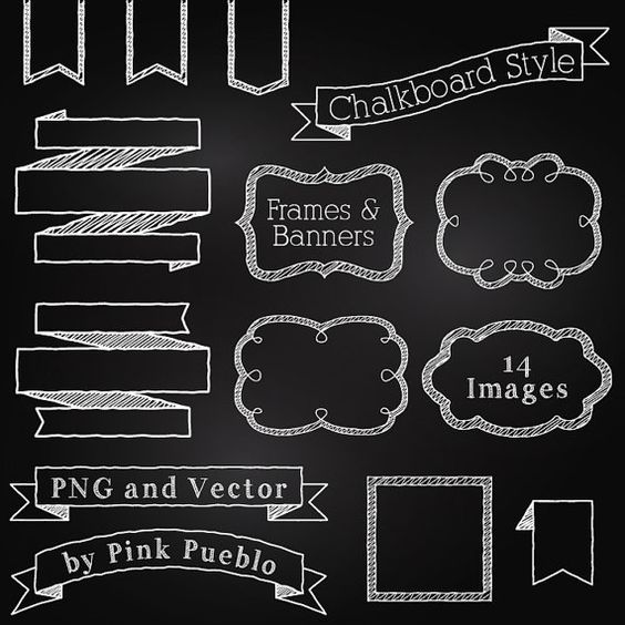 Free Chalkboard Clip Art Commercial Use