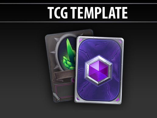 Tcg Template 2d Icons Unity Asset Store In 2021 Templates Unity Card Design