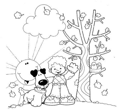 Dibujos Para Colorear En Otono Escuela En La Nube Recursos Para Infantil Y Primaria Dibujos De Otono Dibujos Para Colorear Dibujos