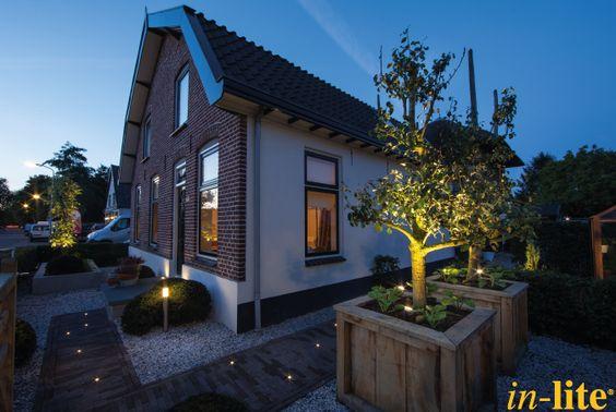 Eigen huis tuin voortuin inspiratie sfeervol buiten buitenspit mini scope grondspot - Buitenverlichting design tuin ...