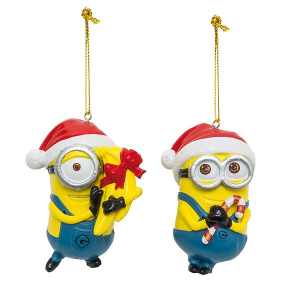 2 Décorations Sapin Noël Dave et Stuart Moi Moche et Méchant Dave Stuart, Noël