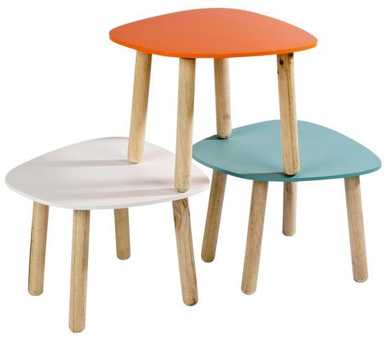 Table basse 30 x 39 x 39 13 chez casa scandinave - Chaise enfant casa ...