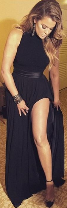 Khloe Kardashian: Dress – Theia Shoes – Christian Louboutin Jewelry – Lorraine Schwartz