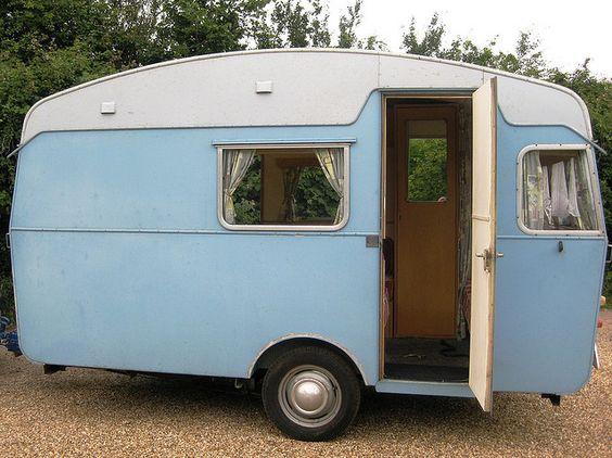 Blue Caravan by snailtrail.co.uk vw camper hire, via Flickr