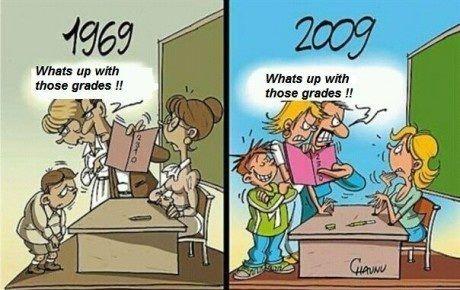 1969 classroom vs. 2009 classroom #teachers #classroom #education: Teacher Stuff, School Stuff, Comic Book, Funny Stuff, So True, Classroom Ideas, So Sad, Teacher Humor