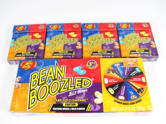 5 Pack Bean Boozled 1 6 Oz Spinner Game Gift Box 3 5 Oz Jelly Belly Candy Jelly Belly Beans Jelly Belly Candy Party