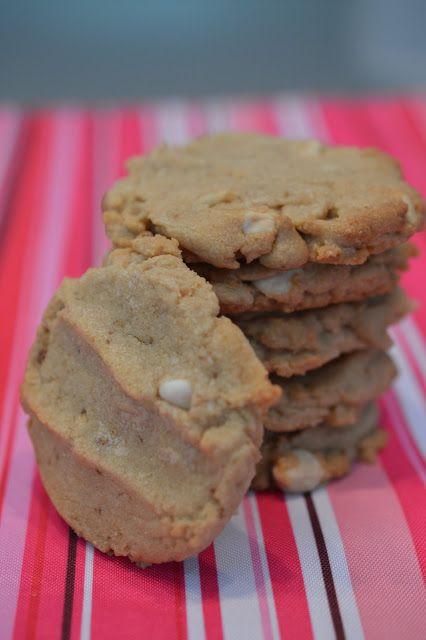 Biscuits au beurre d'arachides et chocolat blanc